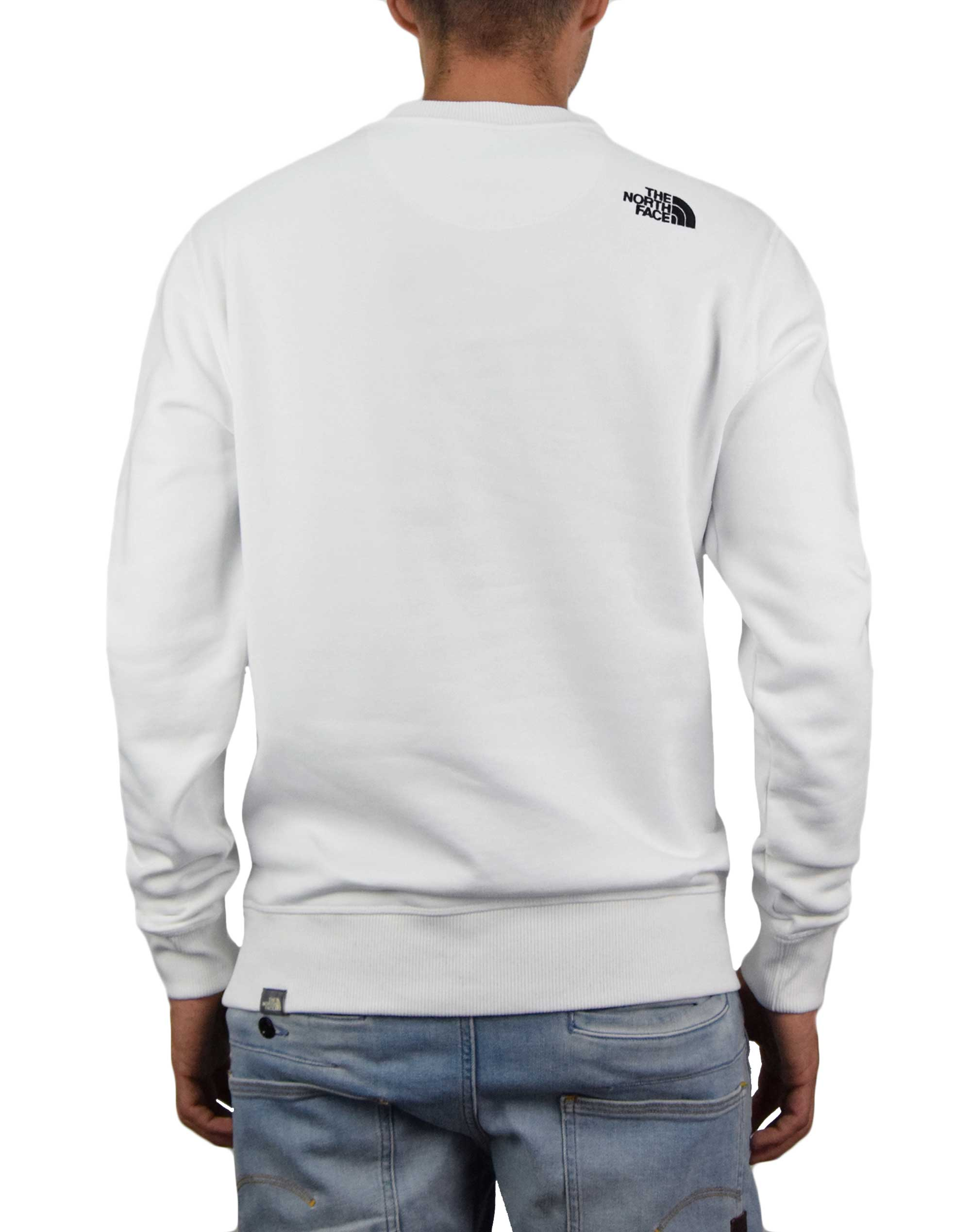 The North Face Drew Peak Crew (NF0A4SVRLA91) White/Black