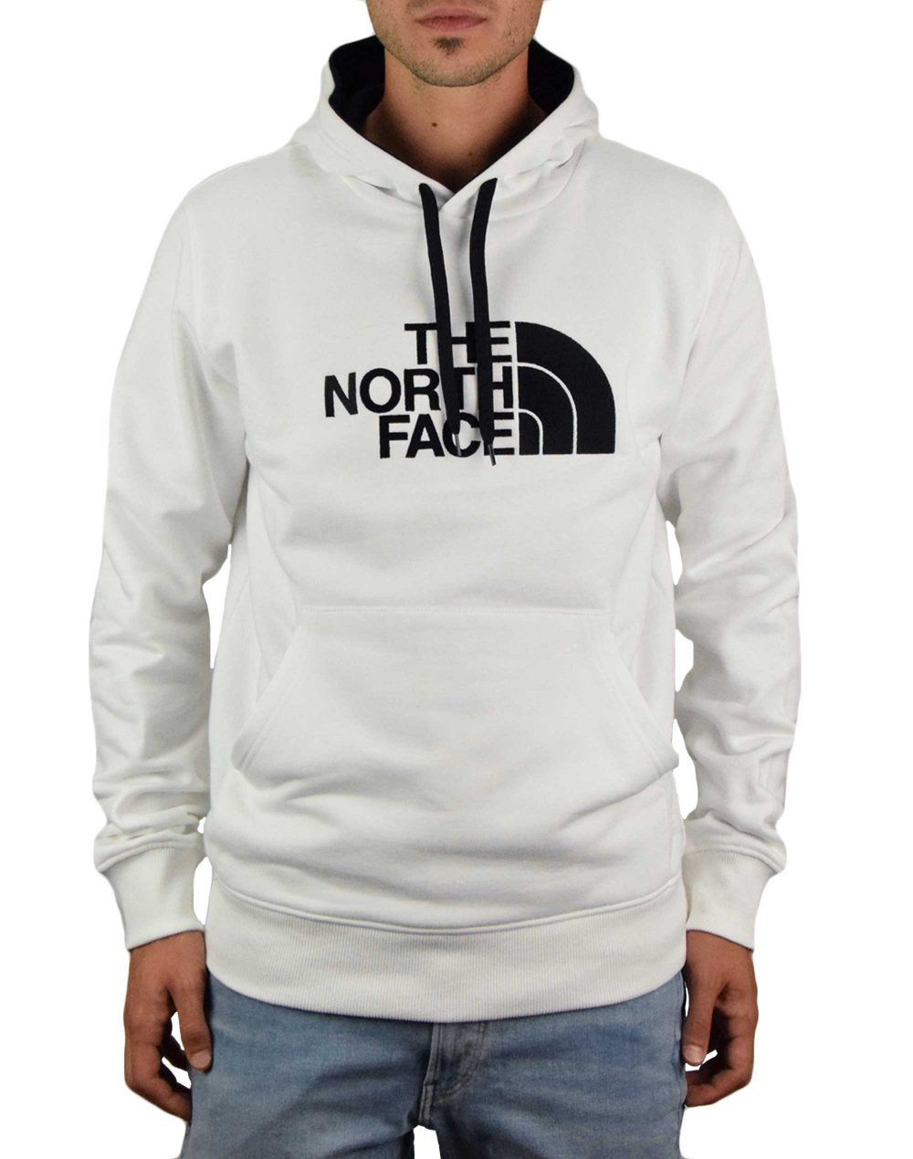 The North Face Drew Peak Pullover Hoodie (NF00AHJYLA91) White/Black