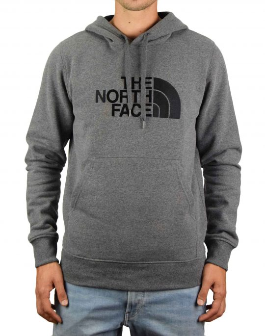 The North Face Drew Peak Pullover Hoodie (NF00AHJYLXS1) Medium Grey Heather/Black