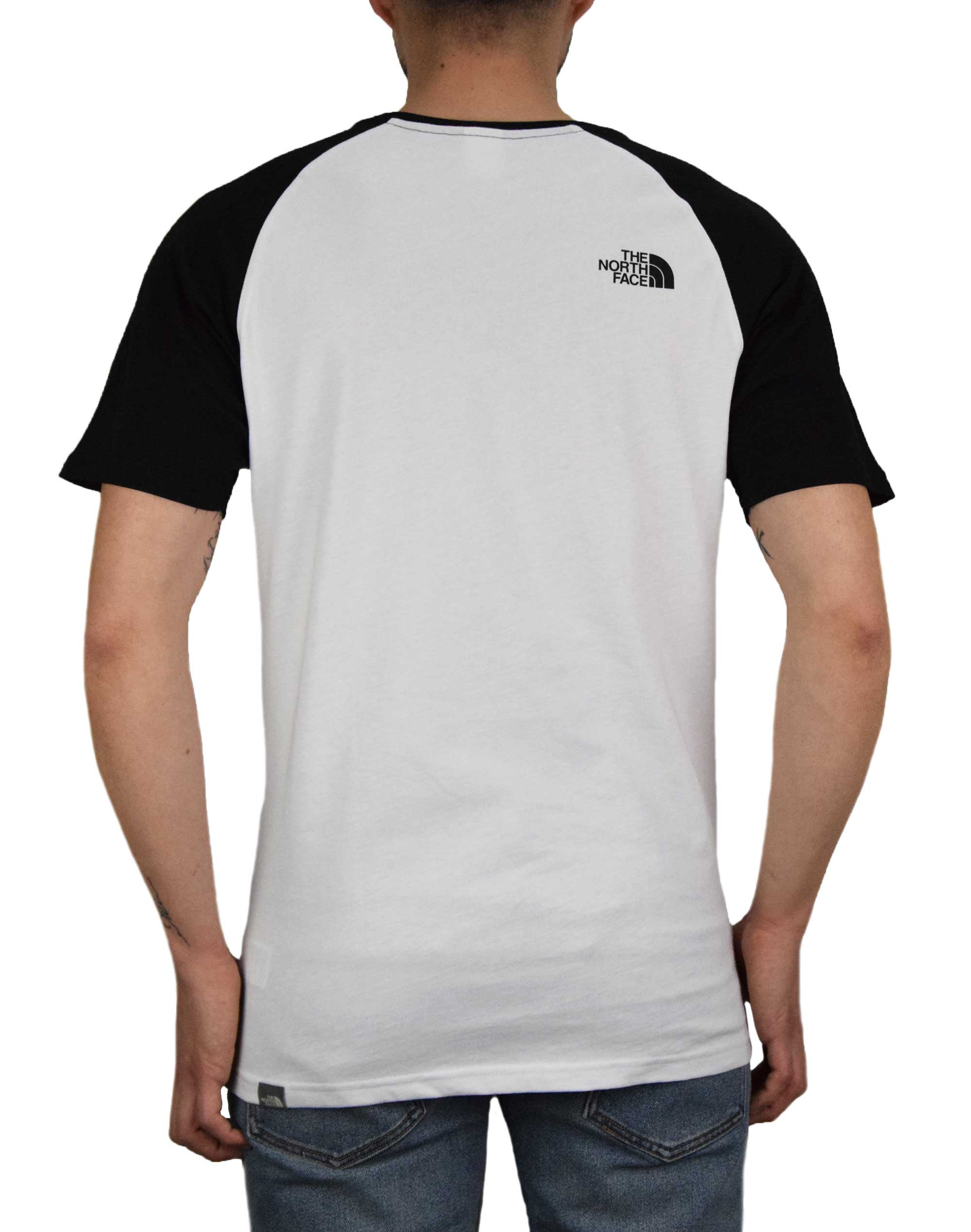 The North Face Raglan Easy Tee (NF0A37FVLA91) White/Black