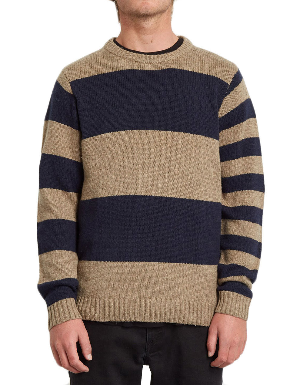 Volcom Edmonder Striped Sweater (A0731904 KHA) Khaki