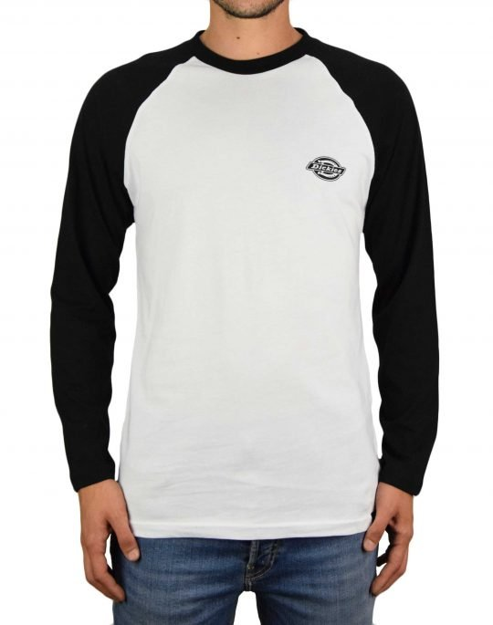 Dickies Youngsville Baseball Tee (DK0A4X61BLK1) White/Black
