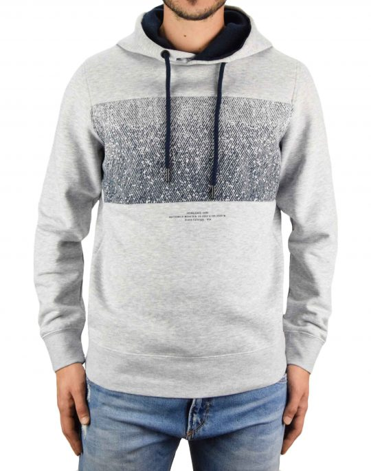 Jack & Jones Spray Sweat Hoodie (12179678) Light Grey Meia