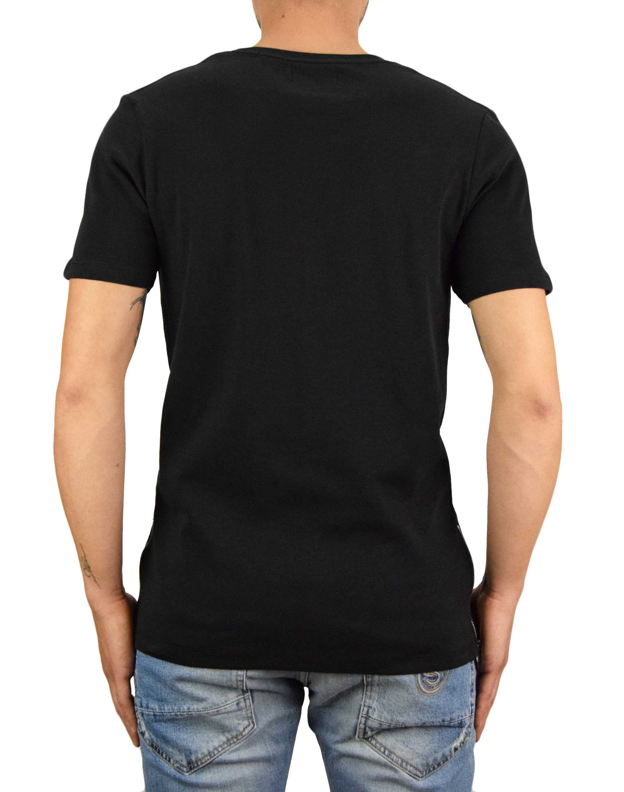 Jack & Jones Zip Tee Slim Fit (12174743) Black