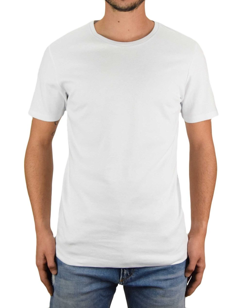 Jack & Jones Zip Tee Slim Fit (12174743) White