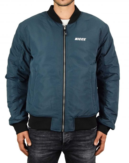 Nicce Fleet Bomber Jacket (203-1-01-08-0255) Airforce Blue