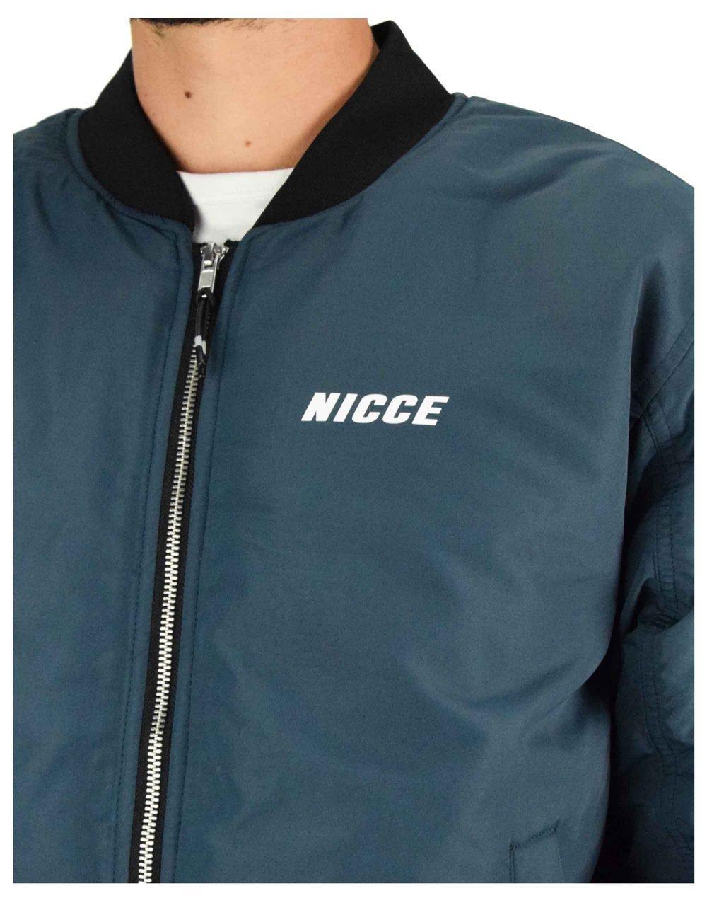 Nicce Fleet Bomber Jacket (203-1-01-08-0255) Airforce Blue