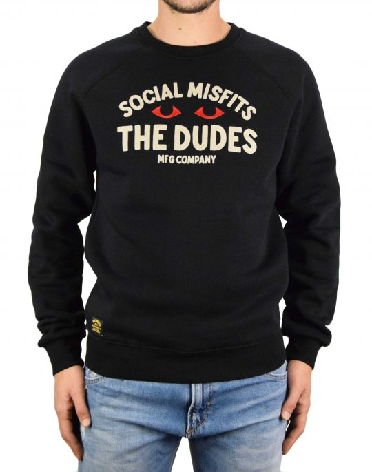 The Dudes Social Misfits Premium Sweatshirt (1006402) Black