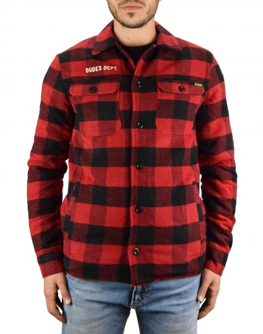The Dudes Unathletics Dept. Overshirt Jacket (1014735) Red/Black