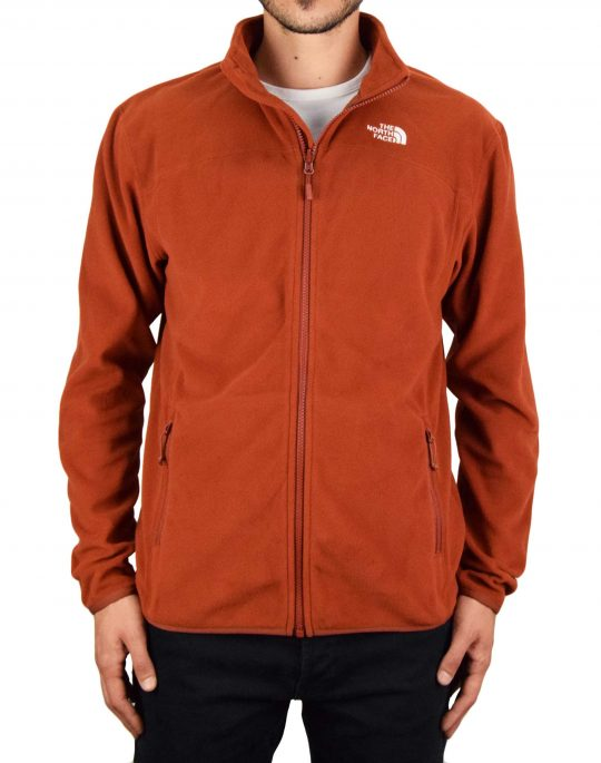The North Face 100 Glacier Full Zip Jacket (NF0A2UAQUBC1) Brandy Brown