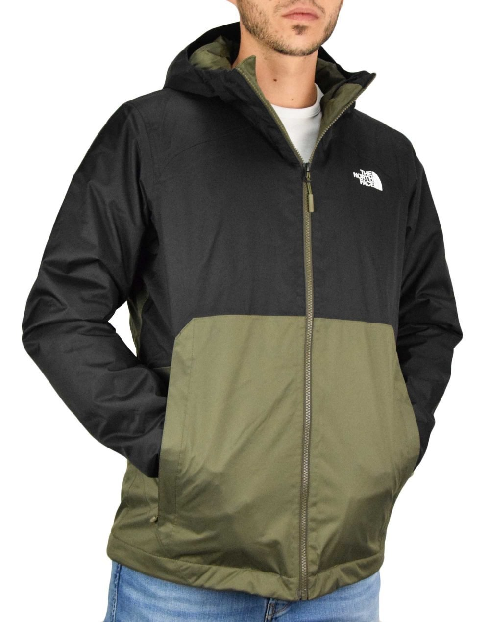 The North Face Millerton Insulated Jacket (NF0A3YFIBQW1) New Taupe Green/Black
