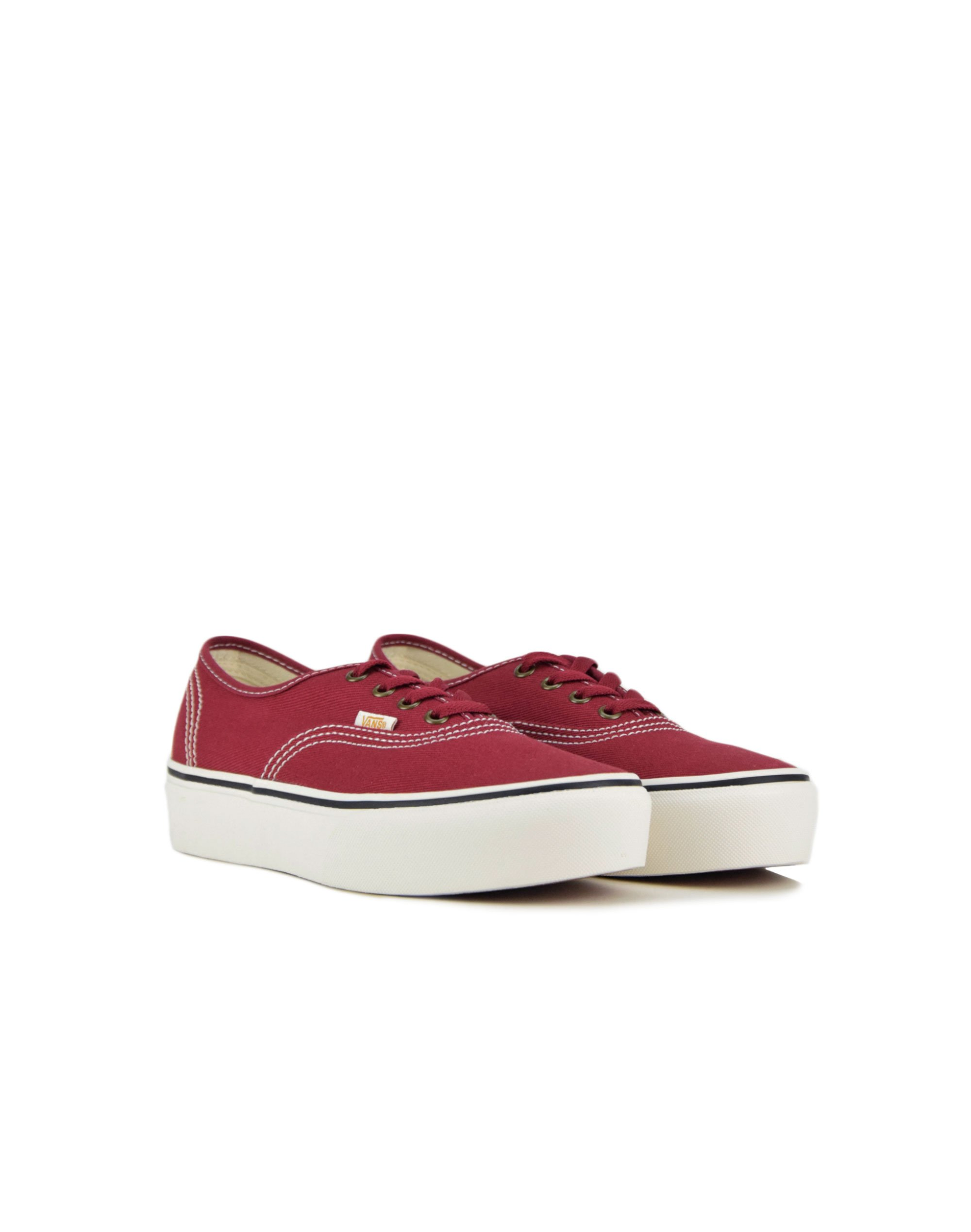 Vans Authentic Platform (VN0A3AV8WQ91) Biking Red/Blanc De Blanc