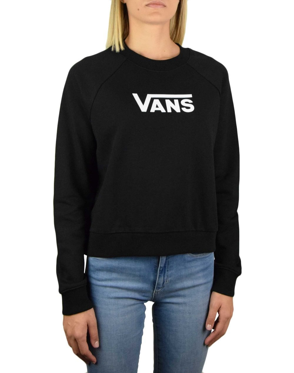 Vans Flying V Boxy Crew (VN0A47THBLK1) Black