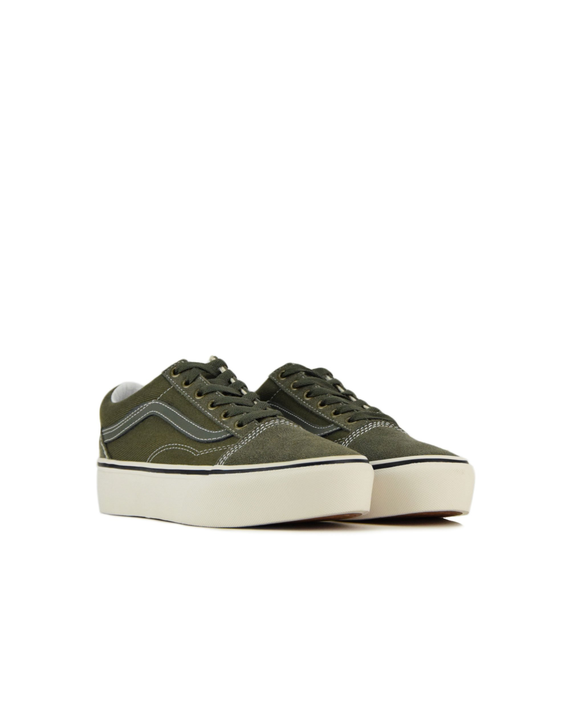 Vans Old Skool Platform (VN0A3B3UVTF1) Grape Leaf/Blanc De Blanc