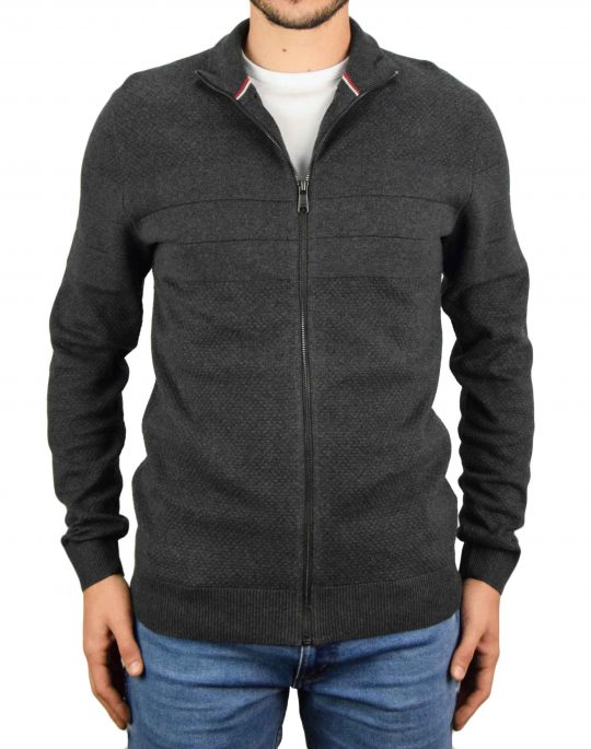 Jack & Jones Sailor Knit Cardigan (12175289) Dark Grey Melange