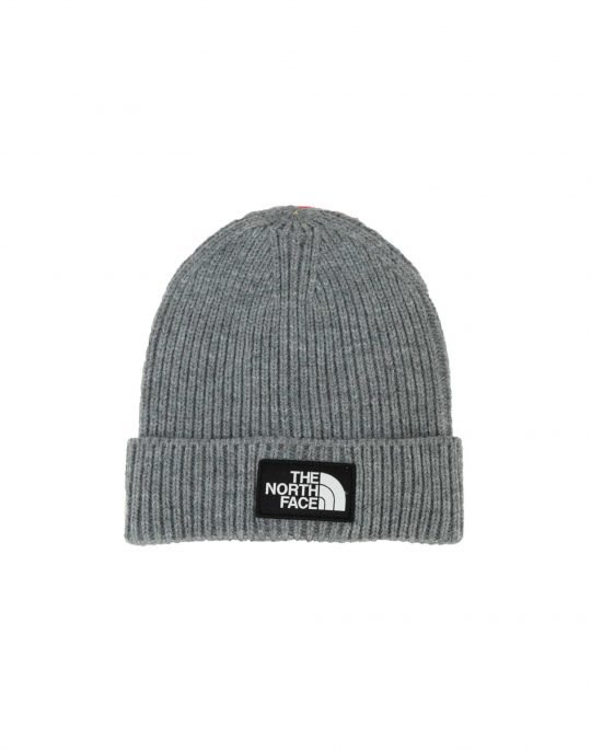 The North Face Logo Box Cuffed Beanie (NF0A3FJXDYY1) Medium Grey Heather