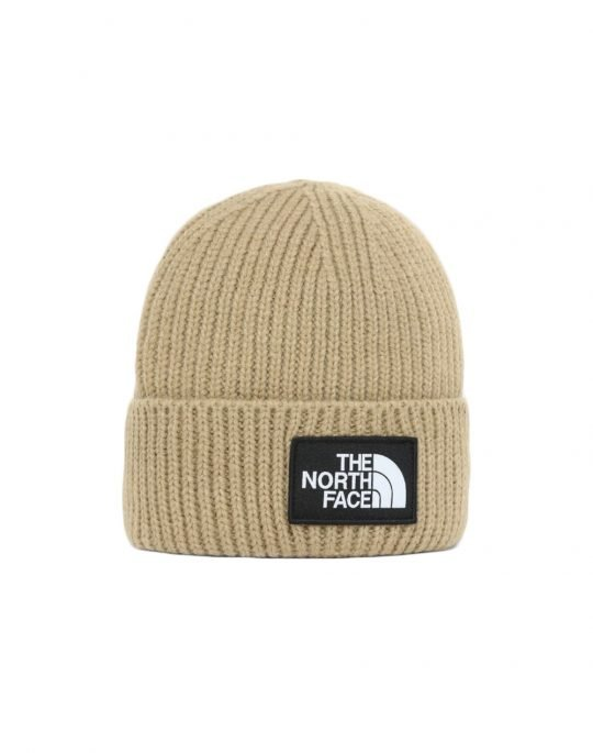 The North Face Logo Box Cuffed Beanie (NF0A3FJXH7E1) Hawtorne Khaki