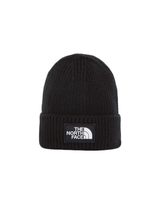 The North Face Logo Box Cuffed Beanie (NF0A3FJXJK31) Black