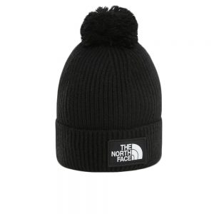 The North Face Logo Box Pom Beanie (NF0A3FN3JK31) Black