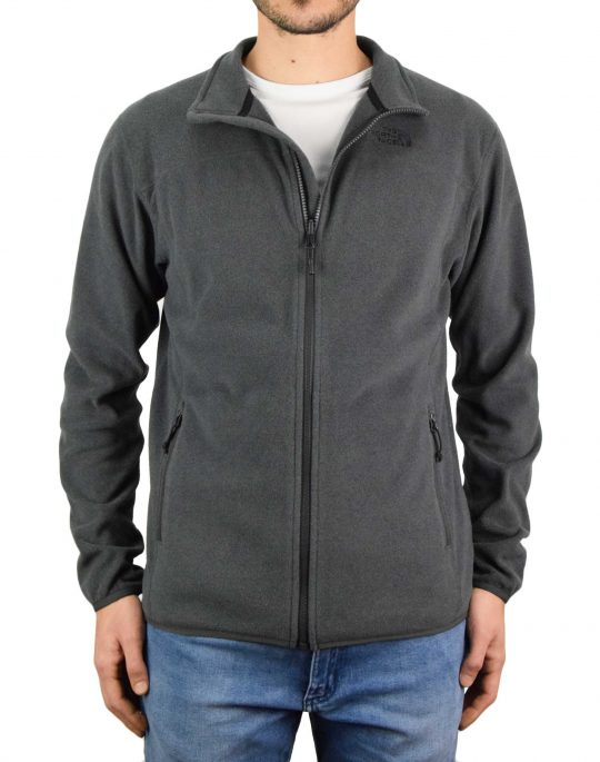 The North Face 100 Glacier Full Zip Jacket (NF0A2UAQDYZ1) Dark Grey Heather