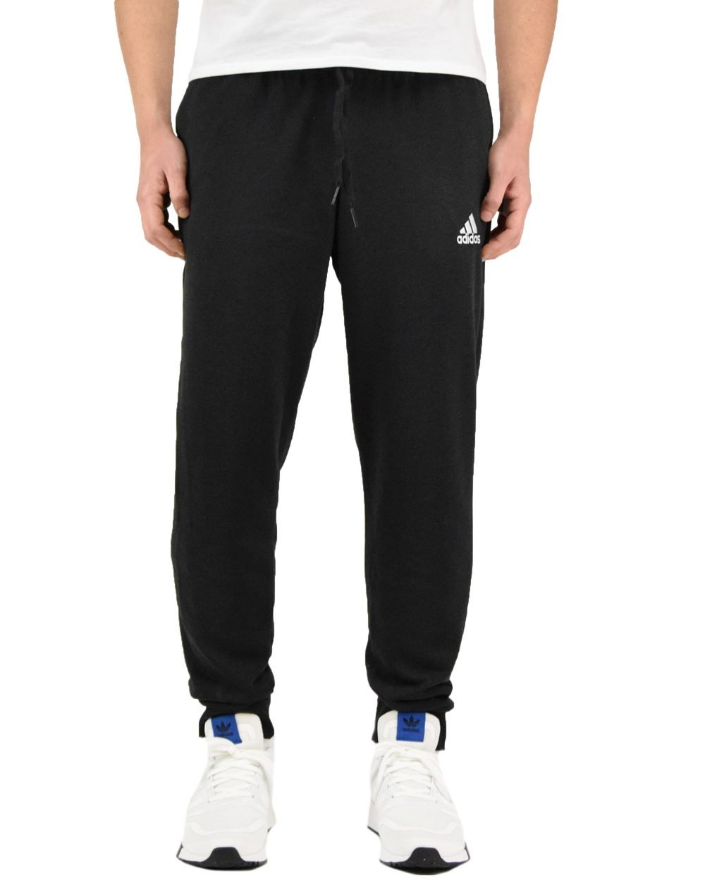 Adidas Essentials French Terry Tapered Cuff Pants (GK9265) Black