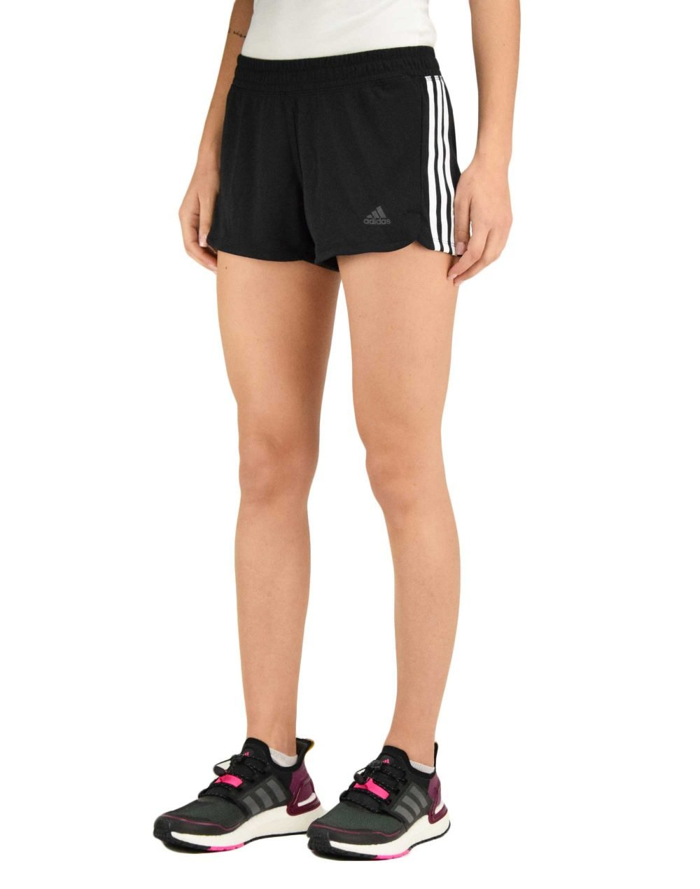Adidas Pacer 3S Knit Shorts (DU3502) Black/White
