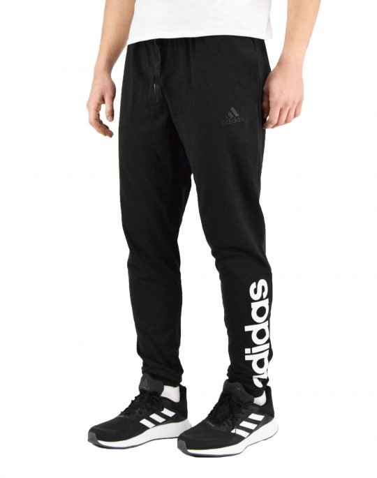 Adidas Single Jersey Tapered Elastic Cuff Logo Pants (GK8827) Black