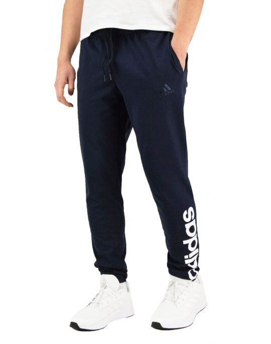 Adidas Single Jersey Tapered Elastic Cuff Logo Pants (GK8828) Navy