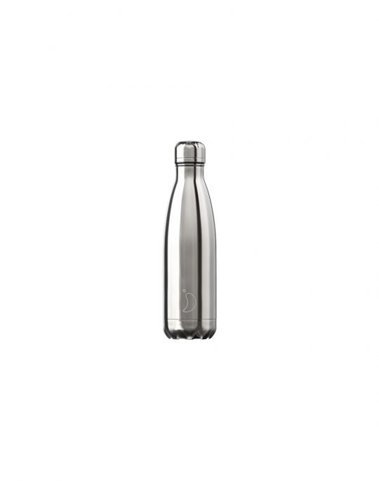 Chilly's Chrome Edition Reusable Bottle 500ml (200303) Silver