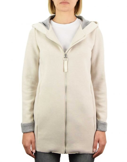 Only Emily Lena Bonded Hood Coat (15216457) Moonbeam/Light Grey Melange