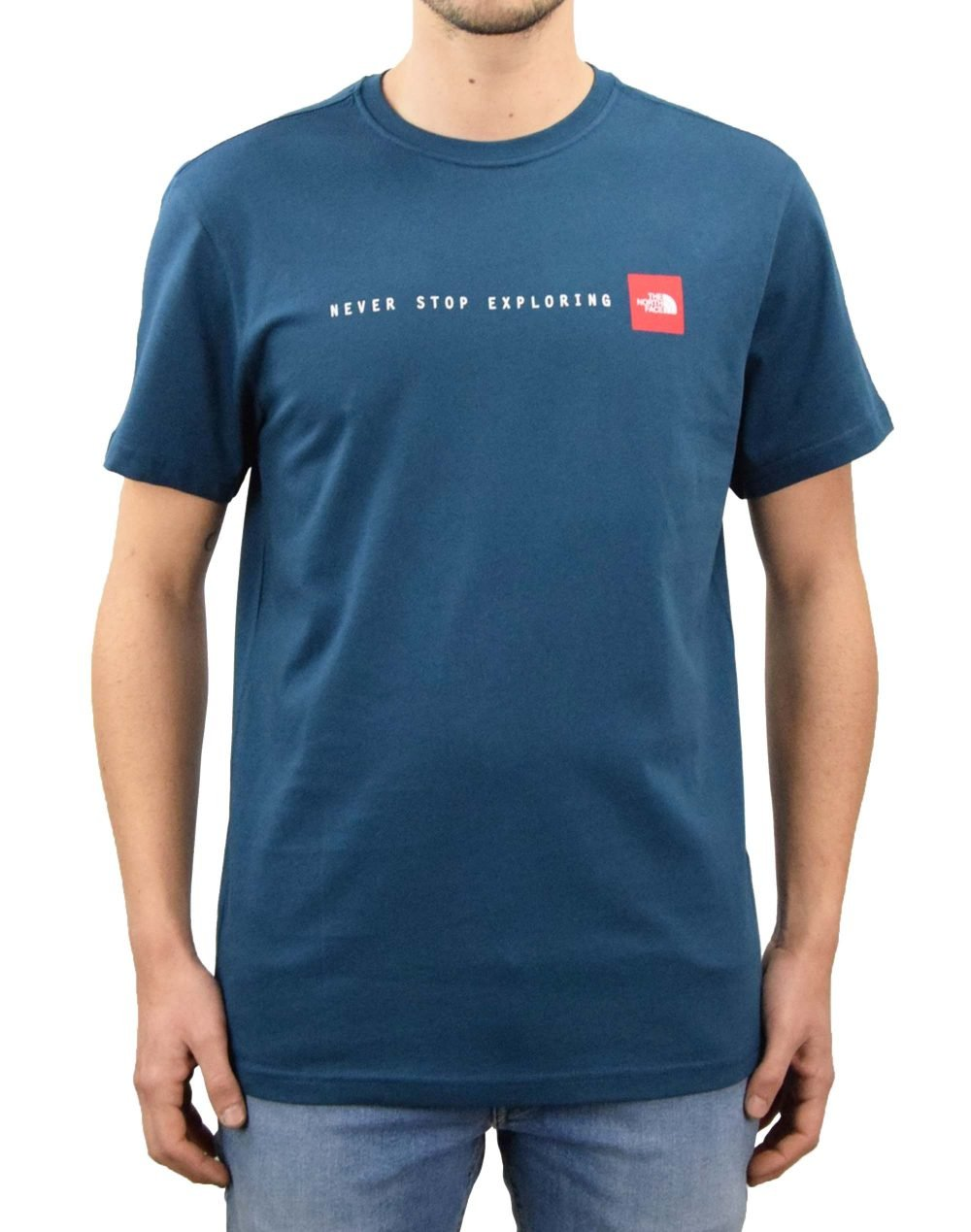 The North Face Never Stop Exploring Tee (NF0A2TX4BH71) Monterey Blue