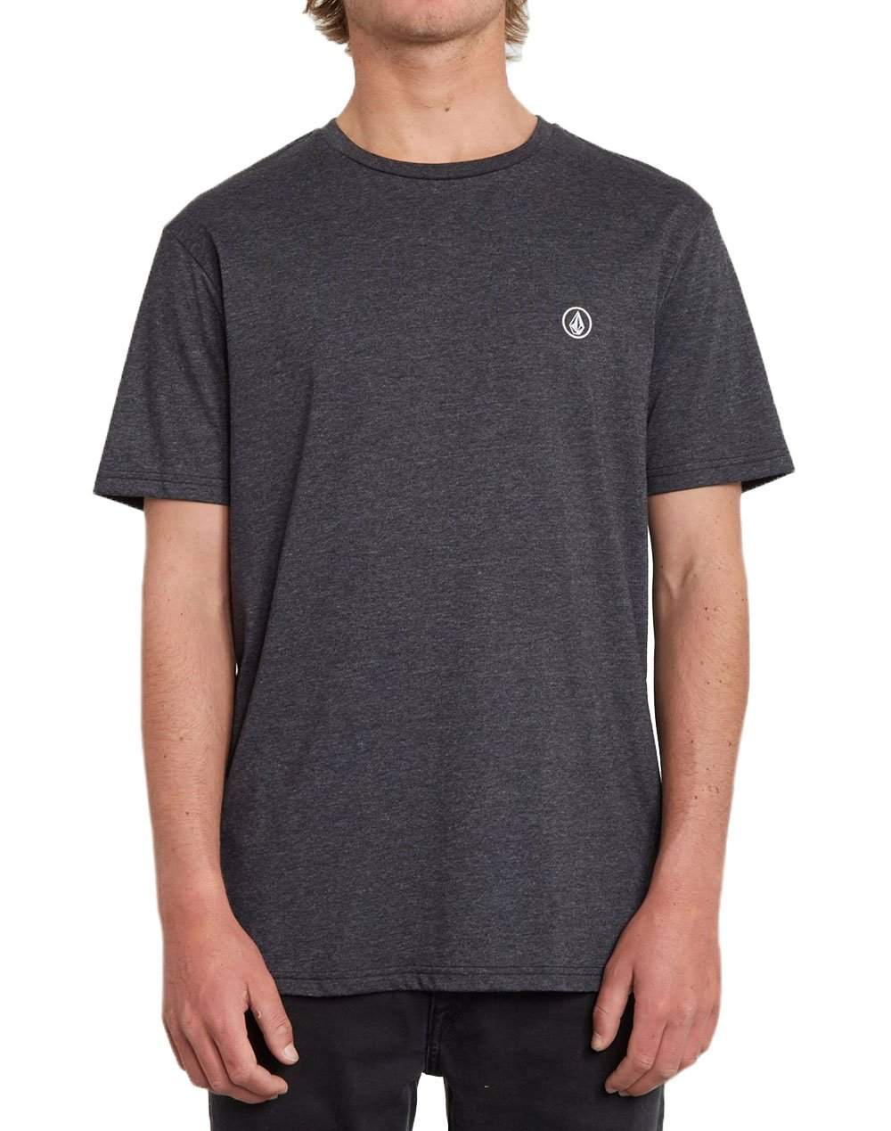 Volcom Circle Blanks Tee (A5712050 HBK) Heather Black
