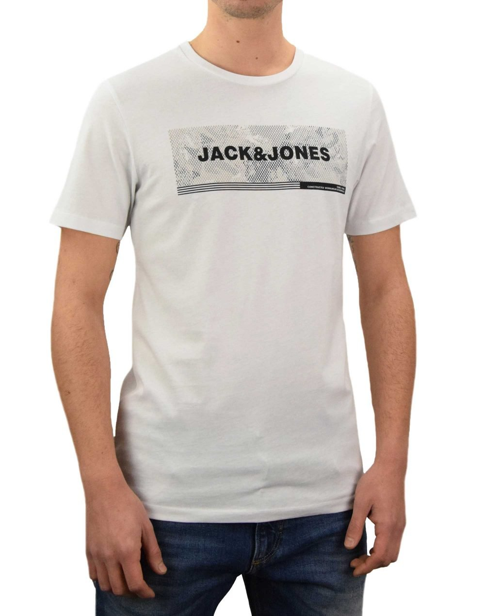 Jack & Jones Campa Slim Tee (12188029) White