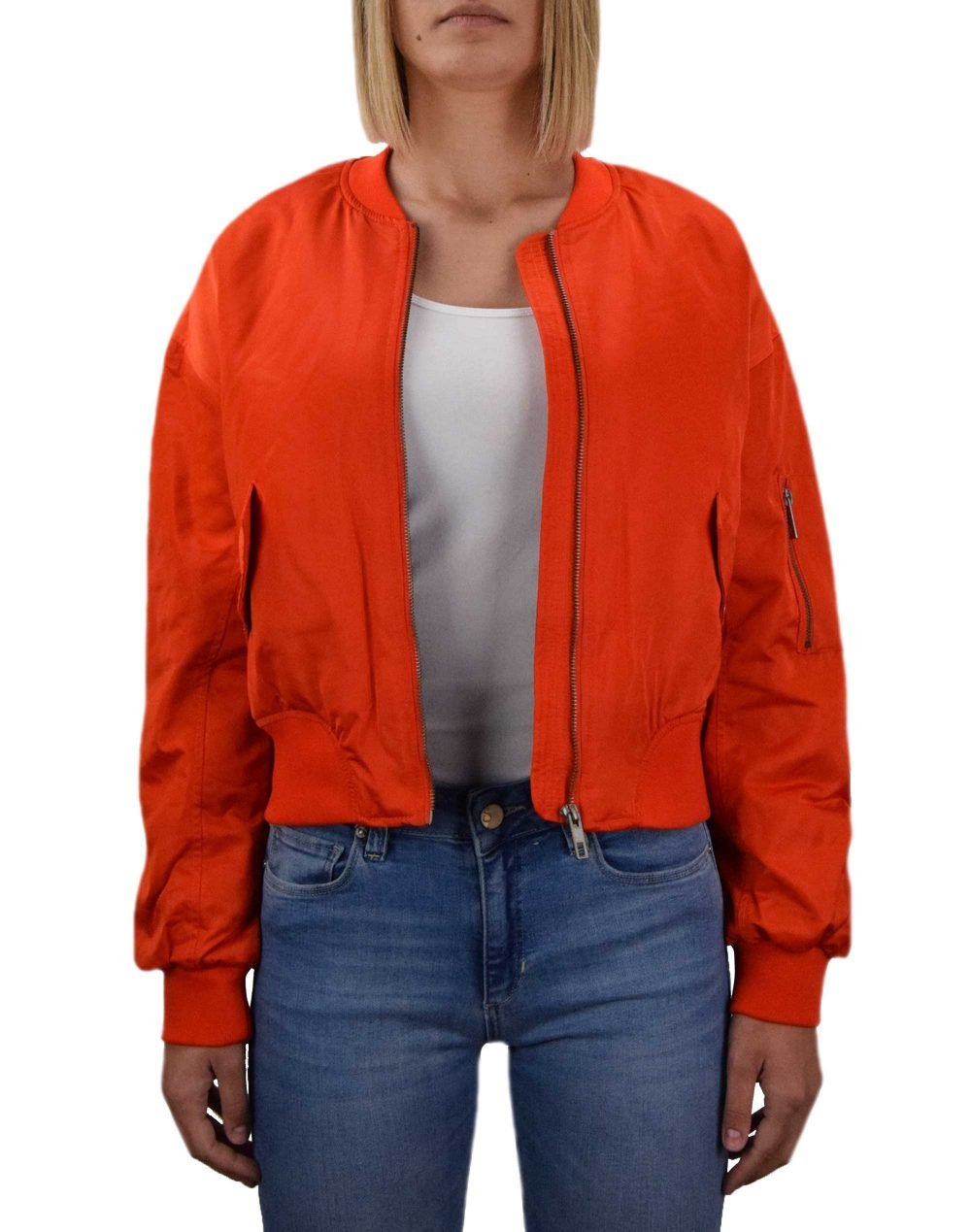 Only Patty Spring Bomber Jacket (15219756) Orange Com