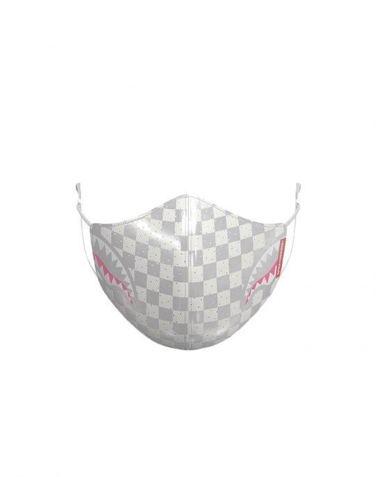 Sprayground Rose All Day Face Mask (Z334) White/Grey Checker