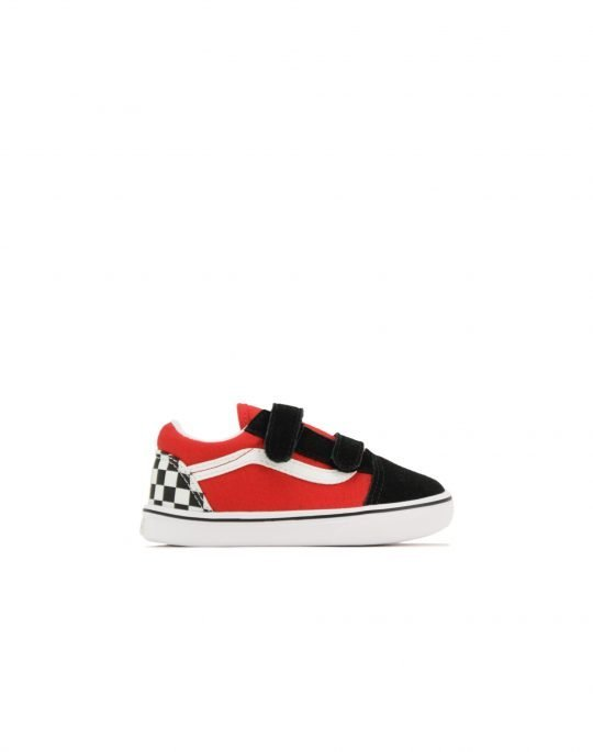 Vans ComfyCush Old Skool (VN0A4TZI35U1) Checkerboard/Black/Red