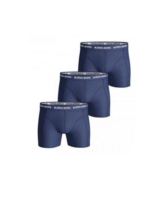 Bjorn Borg Essential Solid 3-Pack Boxer (9999-1024-70102) Blue Depths
