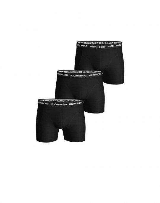 Bjorn Borg Essential Solid 3-Pack Boxer (9999-1024-90011) Black