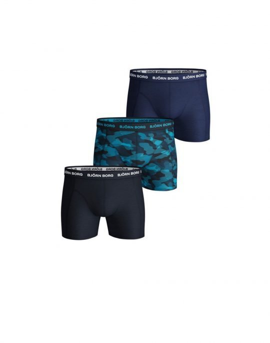 Bjorn Borg Essential Solid 3-Pack Boxer (9999-1132-70291) Total Eclipse