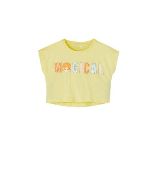 Name It Vilma Capsl Crop Top (13189234) Yellow Pear