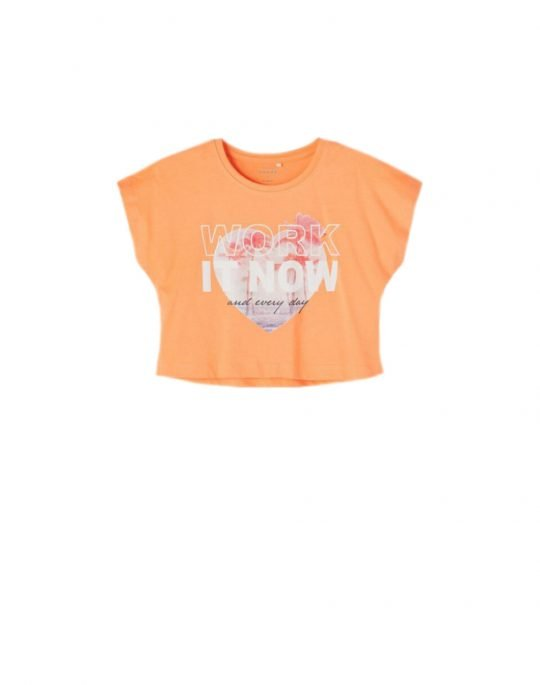 Name It Vilma Crop Top (13189233) Cantaloupe