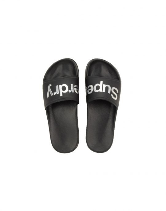 Superdry Holo Infill Pool Slide (WF310006A 02A) Black