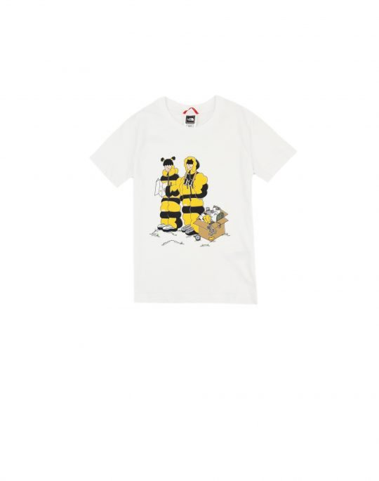 The North Face Youth Graphic Tee (NF0A55910M01) White Him Suit Print