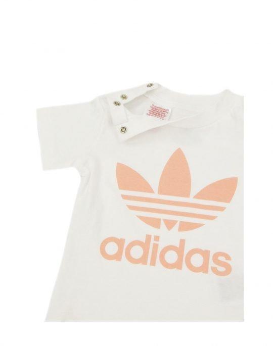 Adidas Trefoil Short Tee Set (GN8192) White/Glow Pink