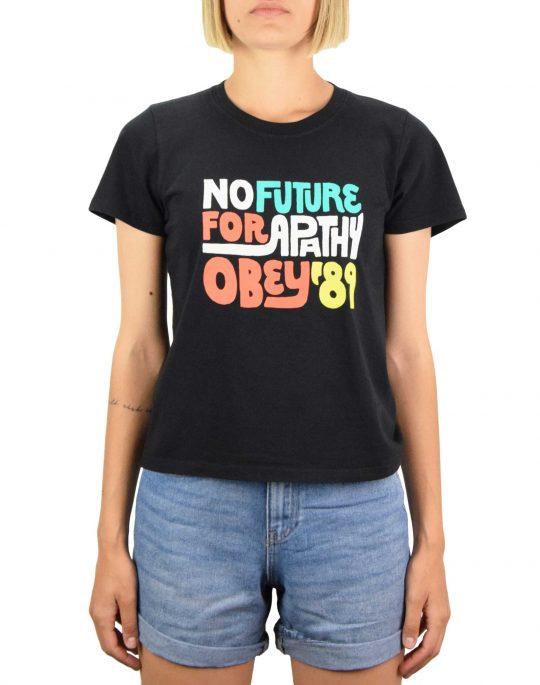 Obey No Future For Apathy '89 Organic Nova Tee (263351905) Black