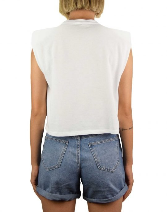 Only Jen Life Shoulderpad Top (15227142) Bright White