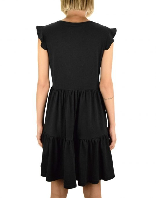 Only May Life Cap Sleeves Frill Dress (15226992) Black