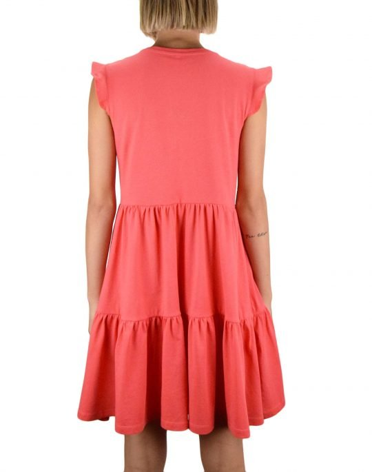 Only May Life Cap Sleeves Frill Dress (15226992) Cayenne