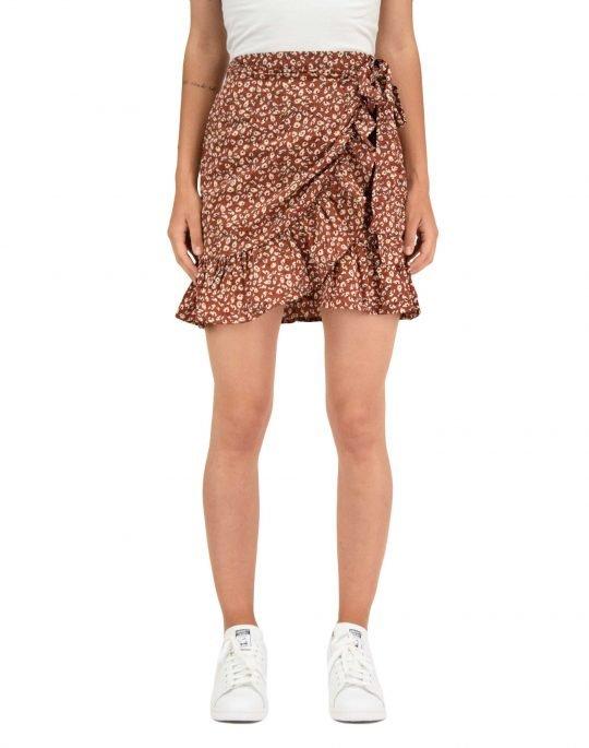 Only Olivia Wrap Skirt (15219146) Henna
