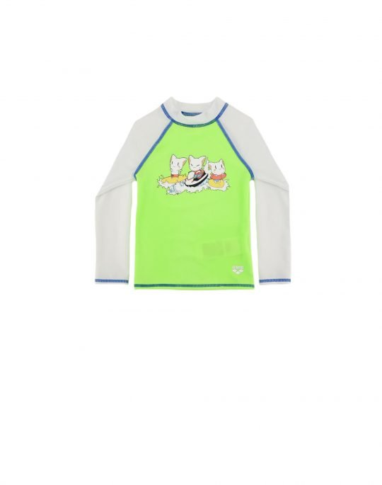 Arena Friends Kids UV Protection Tee (003589510) Soft Green/White
